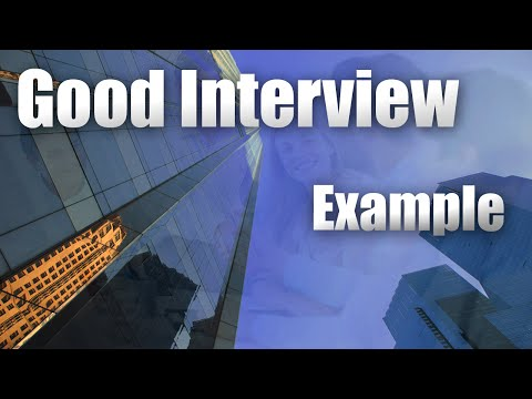 Job Interview....good example