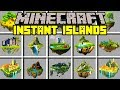 Minecraft INSTANT ISLANDS MOD! | BUILD INSTANT ISLANDS, PLANETS, & MORE! | Modded Mini-Game