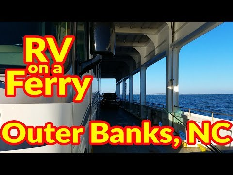 Full Time RV Living | Motorhome On A Ferry To the Outer Banks, NC | S2 EP078