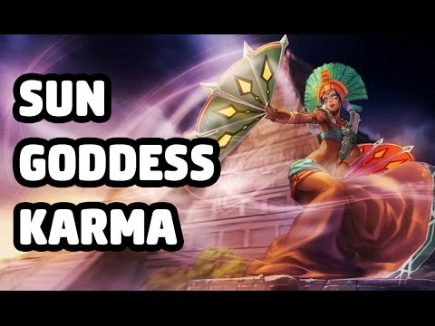 SUN GODDESS KARMA SKIN SPOTLIGHT - LEAGUE OF LEGENDS