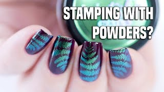 STAMPING with NAIL POWDERS | Regular Nail Polish & Gel Polish