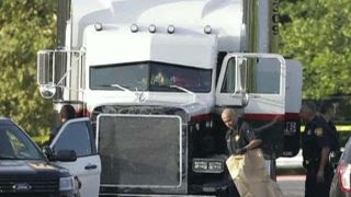 Report: 10 dead after people were found in 18-wheeler
