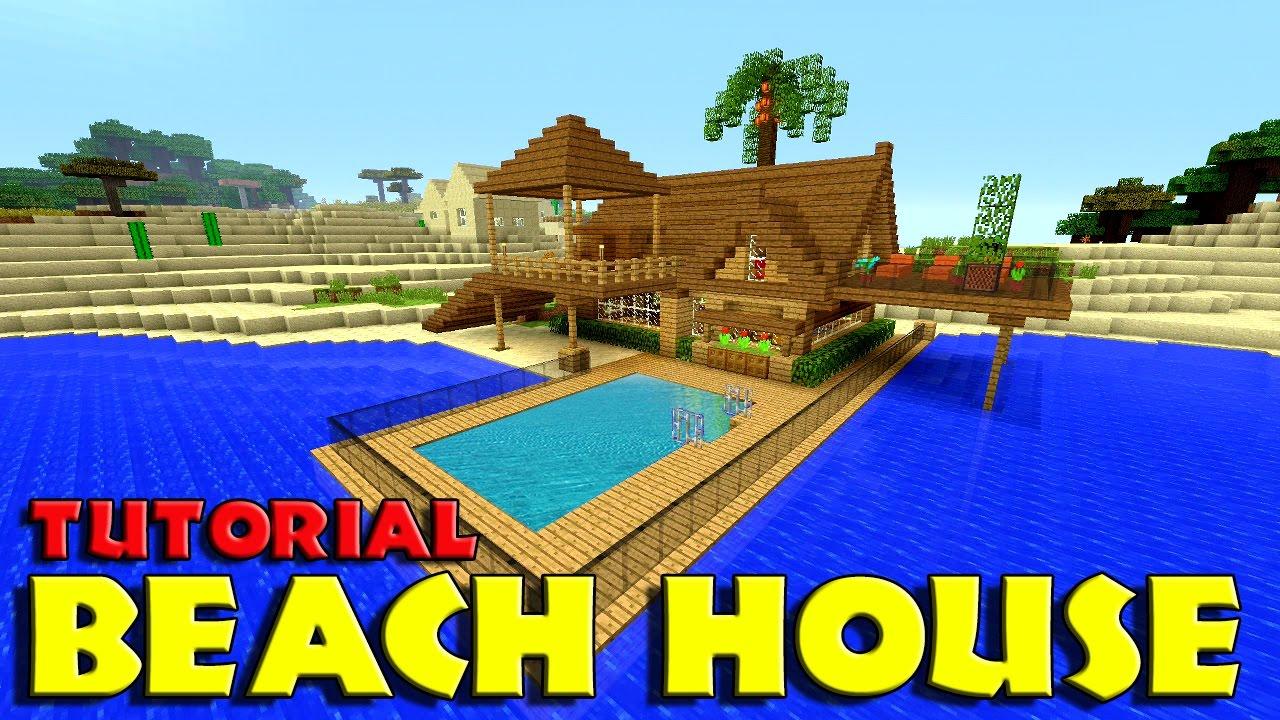 Minecraft How To Build A BEACH House Tutorial Simple & Easy