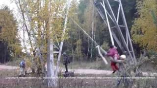 Баловство детей на высоковольтке. High-voltage kids pranks.(Children made a swing of fire hoses, adhering to a high-voltage line of an electrosupport. Дети сделали качели из пожарных шлангов, привязав к высок..., 2011-11-12T15:20:11.000Z)