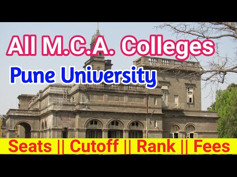 26 MCA Colleges In Pune With Their Seat Capacity, Cutoff, Rank, And Fees