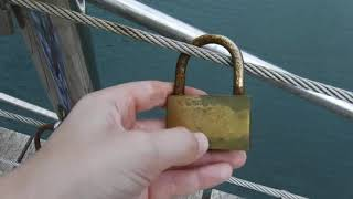 Love Lock Bridge In Santa Eulalia Ibiza