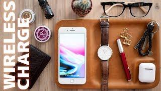 スマホ/AppleWatch/AirPodsなど最大5台まで同時充電できるワイヤレス充電トレイ!【GAZE TRAY】