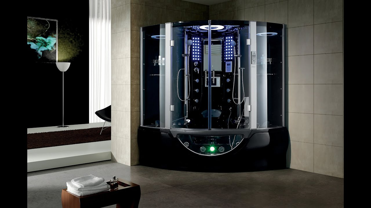 Valencia Black Steam Shower by MayaBath.com - YouTube