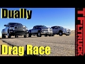 Dually Duel: 2017 Ford F-350 vs Chevy Silverado 3500 vs Ram 3500 Drag Race