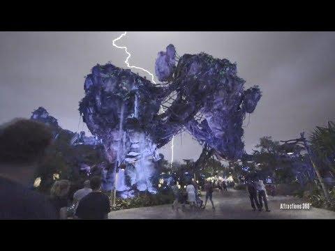 [HD] Lightning Strike over Pandora – Lightning Storm Lights the Night sky