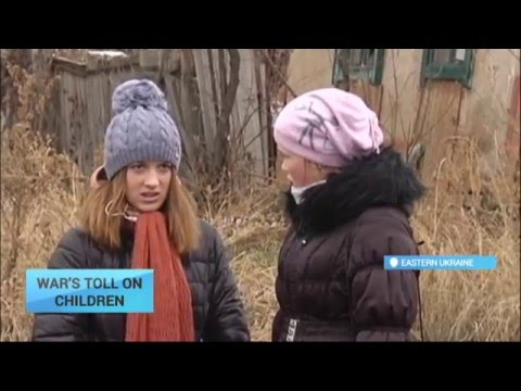 War's Toll on Children: Violence in eastern Ukraine affects more than 500,000 children