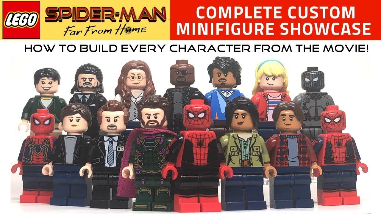 Custom Spiderman Far From Home Marvel Super heroes minifigures on lego brick
