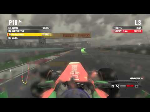 F1 2011 Coop Season - Shanghai #1 Skidding All Over The Place
