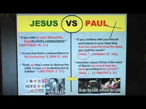 There Is No Truth Without Keeping The Law Jesus Vs Paul