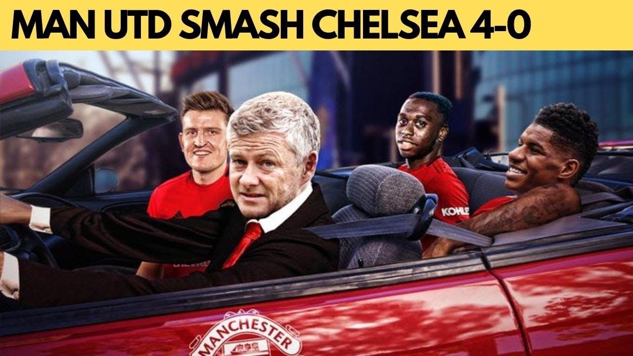 Man Utd hammer Chelsea with Rashford double