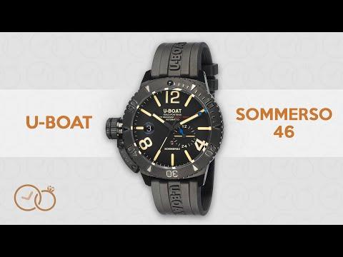 U-Boat Sommerso Diver Watch 46MM Black DLC 9015