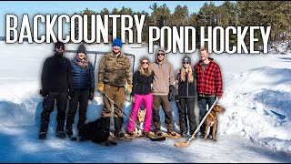 Life in Rural Canada - Trekking for Backcountry Pond Hockey Challenge