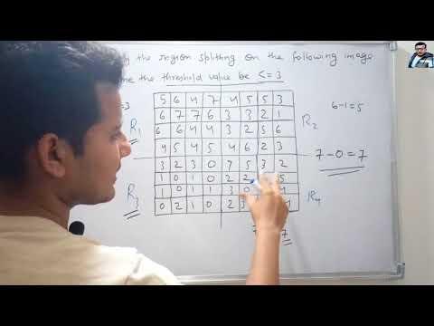 AKTU 2012-13 Question on Region Splitting in Hindi | Digital Image Processing