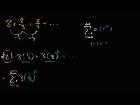 Evaluating infinite geometric series