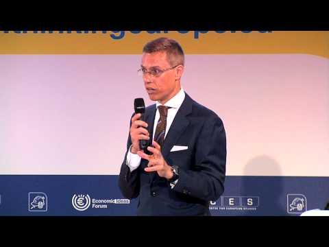 Finnish Minister for European Affairs, Alexander Stubb, opens Day II of EIF 2013