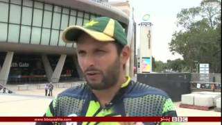 Shahid Afridi  Pashto talking about Afghanistan cricket team  World cup 2015