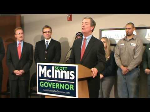 Former Colorado Governor Bill Owens endorses Scott McInnis at GOP unity rally