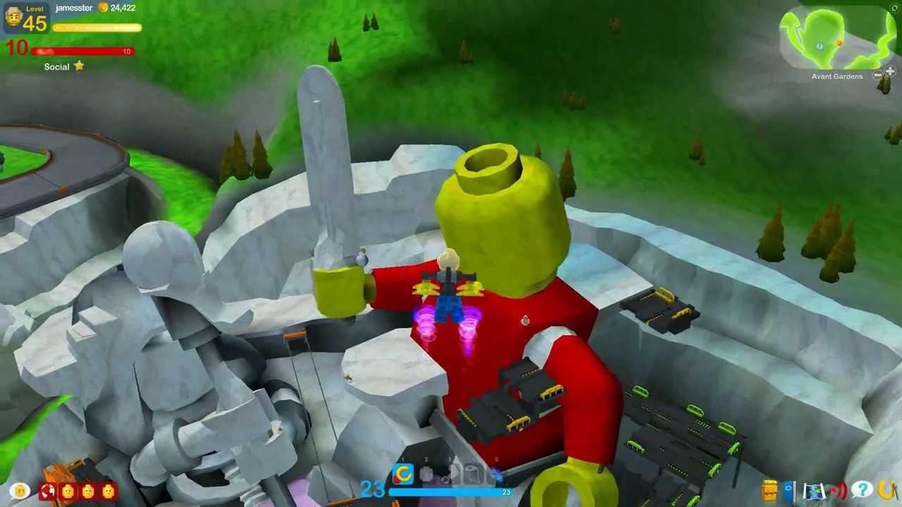 Lego Universe Avant Gardens Youtube
