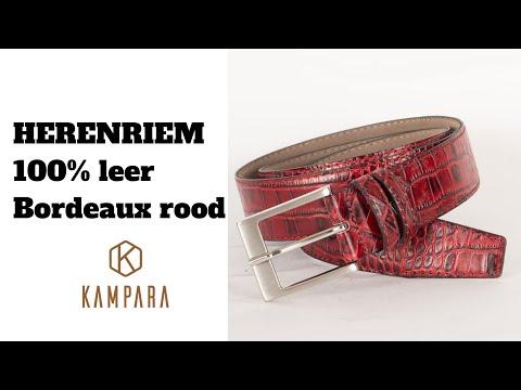 Kampara.com: Rode Krokodillen Leren Riem