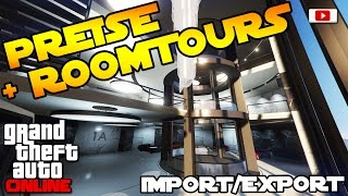 GTA 5 Online Import/Export Update: 💰🔥Alle Preise + Roomtours!🔥💰 [Autos, 60er Garage usw.!]