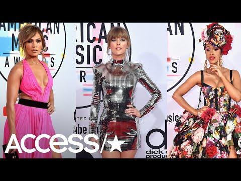 AMAs 2018: Taylor Swift, Jennifer Lopez & More Red Carpet Standouts! | Access
