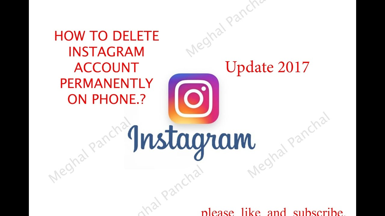 Delete Instagram Account Permanetly On Phone