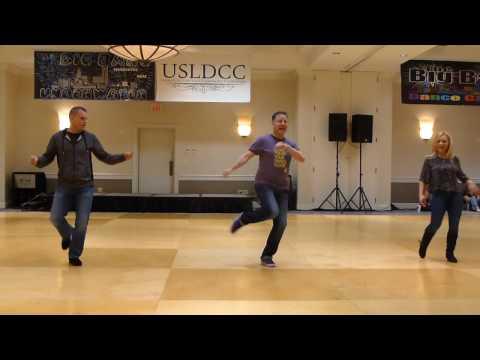 Dirty Boots Line Dance by John Robinson & Junior Willis Demo @ 2017 Big Bang