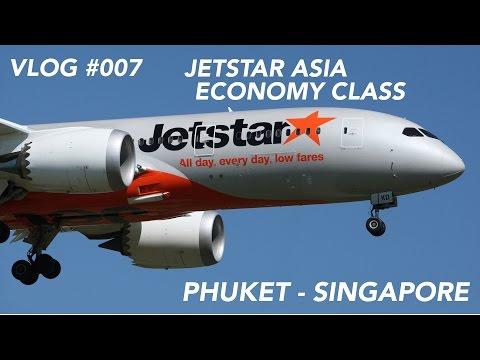 "Jetstar Asia Flight Phuket to Singapore - Short Jump to the ""Fine City""   Full Flight Experience"