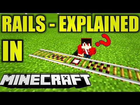 Minecraft Rail Mechanics   Explained  [Minecraft Game Mechanics Tutorial]