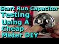 Start Run Capacitor Testing Using A Cheap Meter DIY (HVAC/Stereo/Microwave/Electronics) Service