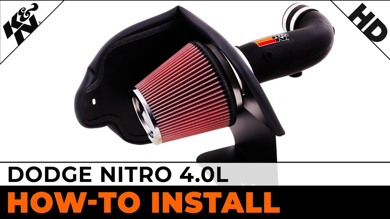 Black Red Dual Head Air Intake Set For 2007-2010 Dodge Nitro 3.7L V6