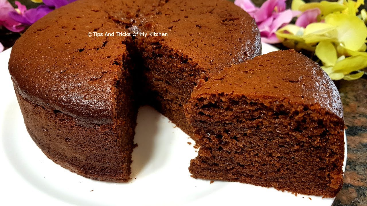 Eggless Chocolate Cake Recipe In Cooker Hindi At Home With Condensed Milk