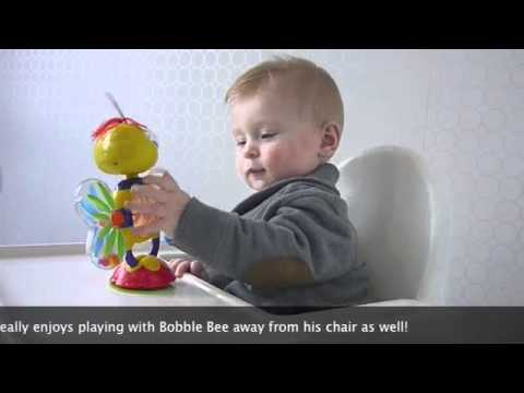 munchkin high chair plastic stacking lawn chairs bobble bee toy youtube