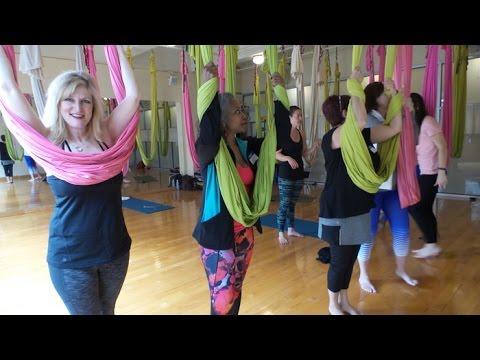 Aerial Yoga for Women over 50 Om Studio NYC