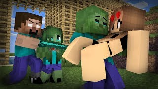 Zombie Life 18 : Herobrine try to kill Zombie - Minecraft Sad Animation