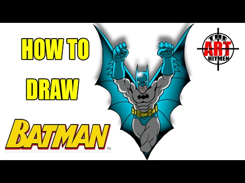 How to draw Batman Flying