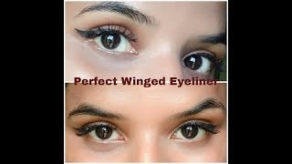 Using this Amazing Trick to get a Perfect Winged Eyeliner in a minutes|Beauty withrovina