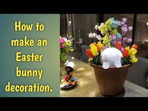 How to make an Easter bunny decoration.