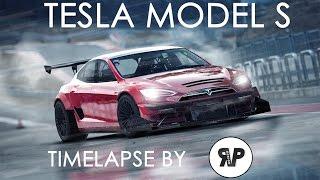 2014 TESLA MODEL S - TIMELAPSE by RP. DESIGN