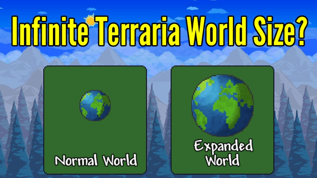 What If Terraria had Infinite World Size?   Larger Terraria worlds