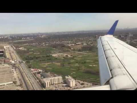 United AIrlines E170 | Approach, Landing and Taxi in into To