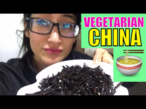 VEGETARIAN RESTAURANT IN CHINA EATING BUDDHIST VEGAN FOOD SHENZHEN CHINA MARCARIB