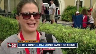 Dirty Dining: Food Vendors inside Raymond James Stadium fumbled with serious violations