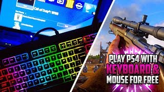 """How To Play Ps4 Using Keyboard & Mouse!  Use Mouse And Keyboard On Ps4!  """"connect Keyboard To Ps4!"""""""