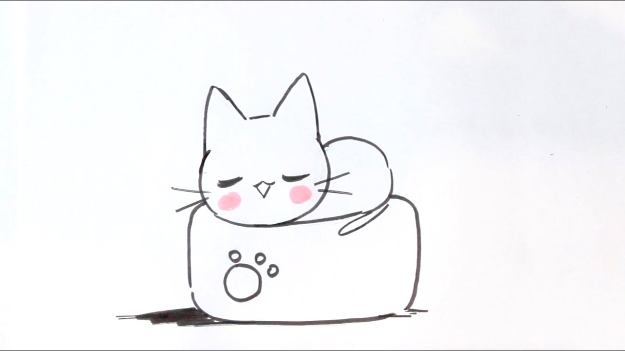 Dessin Simple A Realiser Dessiner Un Chat Facilement 7 Dessiner Un Chat Kawaii
